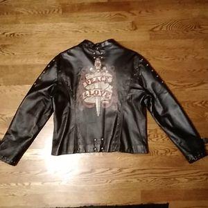 Vtg Wilson Studded Leather Jacket